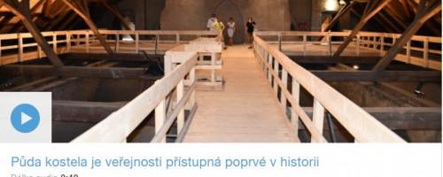 Rozhovor o kostele sv. Jakuba v Českém rozhlasu Pardubice